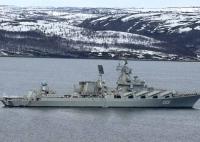 Ракетный крейсер «Маршал Устинов» отработает артиллерийские стрельбы в Баренцевом море