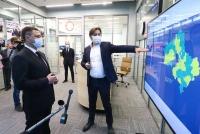 Губернатор Псковской области ознакомился с работой подмосковного ЦУРа