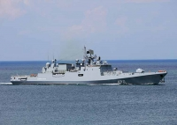 Фрегат «Адмирал Эссен» Черноморского флота провёл артиллерийские стрельбы по береговым целям