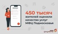 Более 450 тысяч жителей Подмосковья оценили качество услуг МФЦ