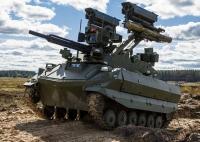 В ходе ССУ «Запад-2021» впервые в боевых порядках были применены роботы разведки и огневой поддержки «Уран-9» и «Нерехта»